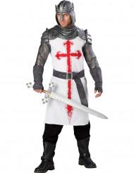 Travestimento cavaliere Crociato uomo - Premium