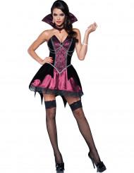 Costume miniabito rosa da Vampiro donna