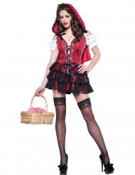 Costume da Cappuccetto Rosso con minigonna per donna