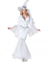 Costume da strega bianca deluxe per donna