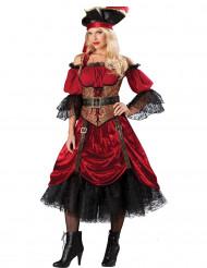 Costume Pirata con corpetto per donna - Premium
