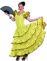 Costume ballerina flamenco giallo e nero donna