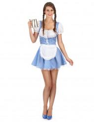 Costume Bavarese azzuro donna