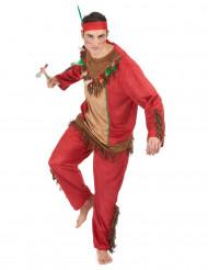 Costume Indiano rosso per uomo