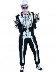 Costume scheletro chic adulto Halloween