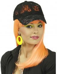 Cappello pizzo nero per donna