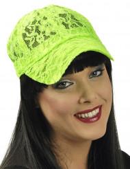 Cappello Pizzo verde fluo per donna