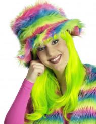 Cappello di pelo colorato per adulto