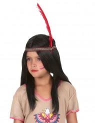 Parrucca lunga indiano bambino