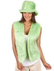 Gilet peluche verde adulto