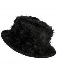 Cappello peluche nero adulto