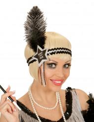 Fascia capelli Charleston Happy New Year argentata