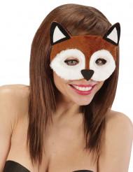 Maschera volpe con ricami per adulto