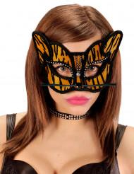 Maschera tigre con strass adulto
