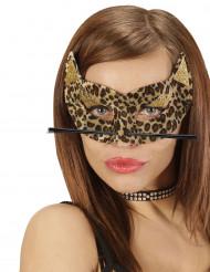 Maschera leopardo donna