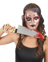 Maschera di Carnevale in plastica trasparente per adulto
