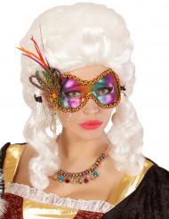 Maschera di Carnevale da farfalla multicolore per adulto