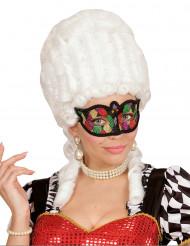 Maschera di Carnevale multicolore con cordoncino per adulto