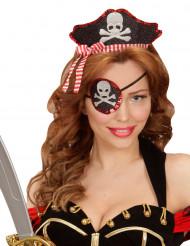 Copricapo e copriocchio piratessa sexy