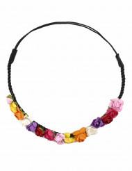 Corona di fiori mulitcolore donna
