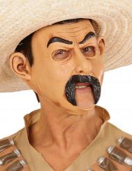 Maschera da bandito messicano per adulto