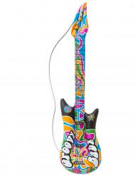 Chitarra gonfiabile hippie 105 cm
