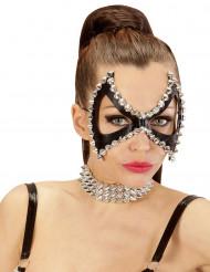 Maschera di Carnevale da punk con chiodi