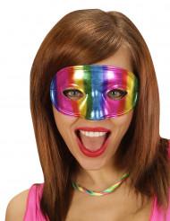 Maschera metallizzta arcobaleno adulto