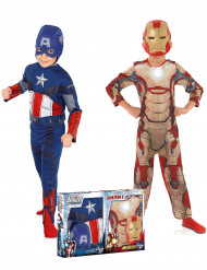 Cofanetto travesimento per bambino Captain America™ & Iron Man™