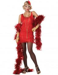 Costume Charleston Rosso con frange per donna