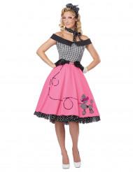 Costume anni '50 vichy e rosa per donna