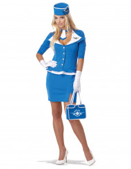 Costume Hostess Air Bleu per donna