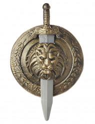 Scudo e spada da gladiatore