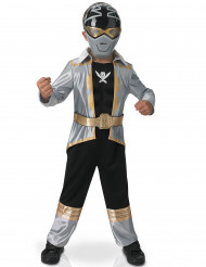 Costume 3D Power rangers™ Silver Super mega force bambino
