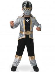 Costume 3D Power rangers™ Silver Super mega force bambino