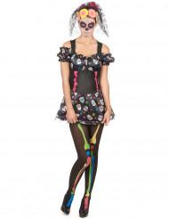 Costume con teschi colorati Dia de los muertos
