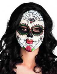 Maschera colorata donna ragno Dia de los Muertos