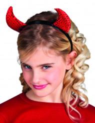 Corna diavolo paillettate per bambino Halloween