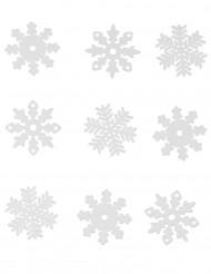 9 fiocchi di neve di Natale per finestra
