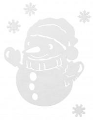 Decorazione pupazzo di neve e stelle Natale