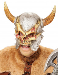 Maschera integrale da vichingo scheletro per adulto