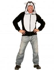 Costume Felpa con cappuccio da gatto per adulto