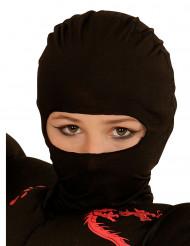 Cappuccio nero ninja bambino