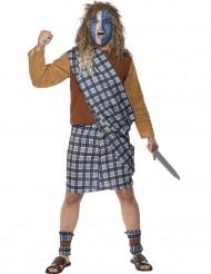 Costume tradizionale guerriero scozzese adulto