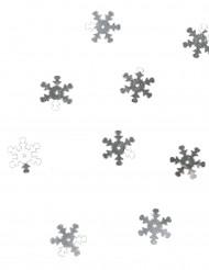 Coriandoli da tavolo fiocchi di neve argentati 10 grammi