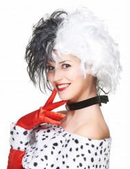 Parrucca bicolore donna crudele bianco e nero