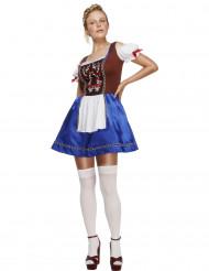 Costume cameriera bavarese blu donna