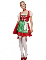 Costume cameriera bavarese bianca donna