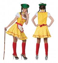 Costume tirolese giallo per donna