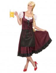 Costume bavarese bordeaux per donna